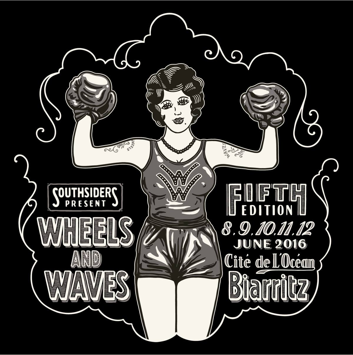 Wheels & waves 2016 poster